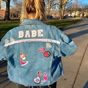 Custom Denim Jacket with Patches